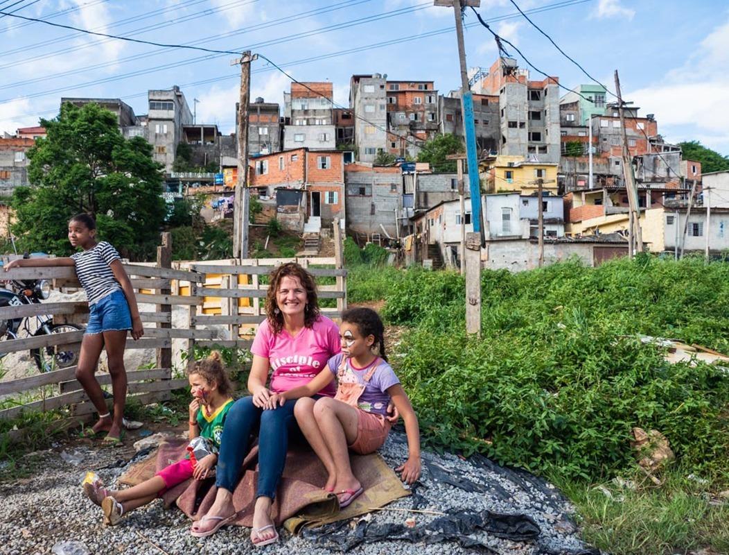 Samen met de kinderen in Brazilië